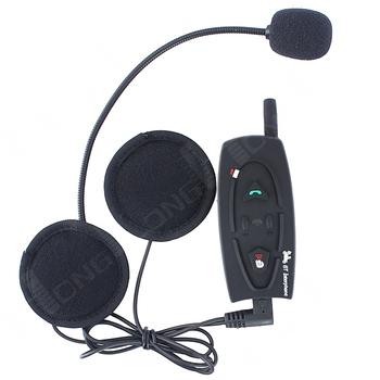 1PCS 500M Motorcycle Bluetooth Helmet Intercom Headset, Full Duplex Real Two-Way Wireless Communication BT Headset Interphone!