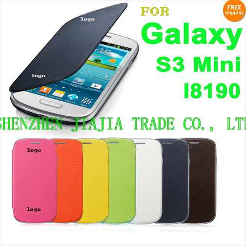 For Samsung Galaxy S3 Mini i8190 back cover flip leather case battery housing case ,free shipping(China (Mainland))
