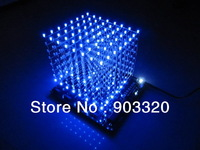 3D 8S LED Light Cube With Animation Effects /3D CUBE 8 8x8x8 3D LED /Kits/Junior,3D LED Display,Christmas Gift