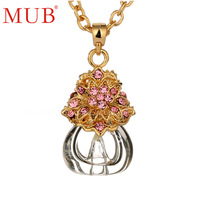 Wholesale Jewelry 18K Gold Plated Perfume Necklace Pendants 2013 Fashion Ladies Necklace Free Shipping