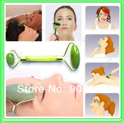 Hot Selling!Fashion Face Neck Jade Roller Massager Slimming Tool Facial Eye Feet Body Head Relax Massage Beauty Health Tools(China (Mainland))