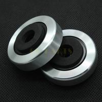 4PCS silver plate plastic CD Player Speaker Amplifier Feet Pad with non-slip EVA mat