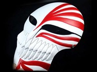 Japanese anime Movie theme mask replica Kurosaki Ichigo resin mask Cosplay masquerade ball Full face death mask