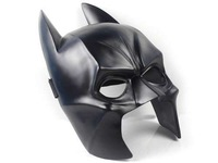 Free shipping movie theme mask replica Batman Dark Knight  Resin Mask Cosplay BLACK Halloween masquerade masks gift