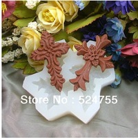 Free Shipping New Style Cross Shape Silicone Cake Decoration Mold Ice Candy Cake Tools Double Sugar Cake Making Mould
