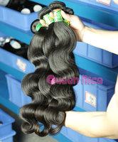 "QNice hair brazilian body wave hair 3or4pcs virgin brazilian hair body weave 12""-32""in stock"
