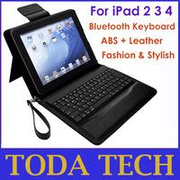 Freestanding bluetooth wireless keyboard case for iPad 2 3 4 free shipping