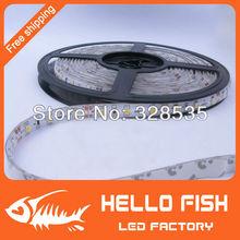 5m 300LED 3528 SMD waterproof 12V flexible light 60led/m LED strip, white/warm white/blue/green/red/yellow(China (Mainland))