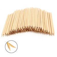 Free shipping! 100X Nail Art Orange Wood Stick Cuticle Pusher Remover Nail Art New Style
