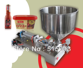 cheapest 1000ml single nozzle with hopper automatic/semi-automatic liquid paste filling machine
