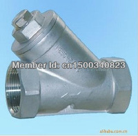 "DN15 1/2"" 800WOG Y-type Spring check  valve ,ss304,Thread"