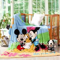 Mickey Mouse, Baby Blanket,Size 1.5*2.0M, Kids blanket, Coral fleece,5 Cartoon styles, Warm & Soft, Bedding set  NO.17