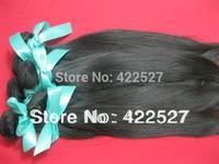 retail free shipping virgin Indain hair remy human hair extension high quality grade 7A natural straight hair