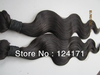5A unprocessed virgin brazilian human hair extension dyeable and bleachable natural color body wave 2013 new arrival