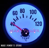 52mm Blue LED Electrical Water Temp Gauge White Face Temperature Celsius 40-120/tachometer/auto metre/auto gauge/car meter