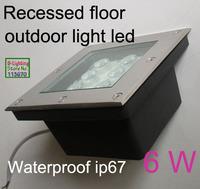 Square recessed ground led lamp,6w 12v led underground lamp,100-260v led outdoor lighting with plastic base