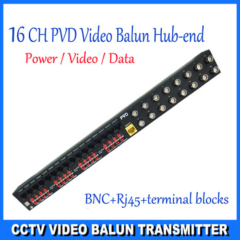Hub-End Video Balun Transceiver  BNC PVD 16CH Passive for CCTV video/audio/data Video Transceiver DS-PVD1612UB