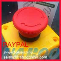 1pcs mushroom e-stop emergency stop push button switch box 1NO or 1NC shipping free