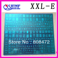 Konad New Stamping Big size Template XXL size 5 different designs per LOTS Fashion Nail Art stamping nail image plate