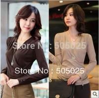 blusas femininas Summer kimono plus size 4xl kimono V-neck cross collar long-sleeve Chiffon blouse women shirt  camisa femenina