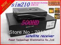 free shipping dm 500HD set top box satellite  receiver sim210 smartcard satellite tv receiver  500hd dvb s2