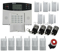 Home Wireless GSM Alarm System Home Security Alarm System W/ LCD Keyboard Sensor Alarm Free Shipping