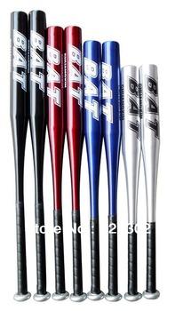 Free shipping 32 inch (82cm) baseball bats 100% High Quality aluminium alloy baseball bat sports color blue,red,silver,black