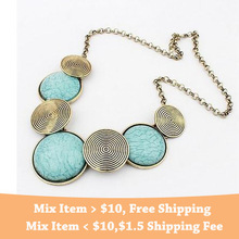 3 Colors Free shipping New Arrival Fashion Elegant Metal Round gem collar necklace statement jewelry women