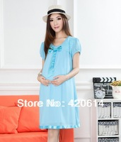 2013 Super Beautiful Extravagance Pregnant Women, Plaid Casual Dresses, Clothes For Pregnant Women, Maternity Dresses Clothing