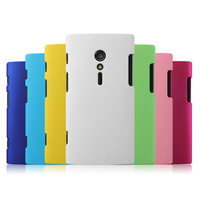 Free Shipping! Colorful Rubber Matte Hard Back Case for Sony Xperia ion Lt28i, Frosted Back Cover for Sony Xperia ion, SON-005