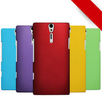 Free Shipping! Colorful Rubber Matte Hard Back Case for Sony Xperia S Lt26i, Frosted Cover for Sony Xperia SL Lt26ii, SON-006