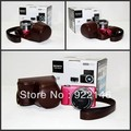 Free Shipping Camera Case Bag for Sony NEX-3N ,with Shoulder strap ,Black / coffee / white / red