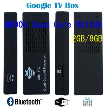 MK908 Quad Core Rk3188 Cortex-A9 1.8GHz 2GB / 8GB Bluetooth Android mini PC Google TV Box Dongle Stick DHL free shippjng