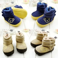 Retail high quality 2014 New winter warm thicker baby booties toddler shoes first walker snow boots B410
