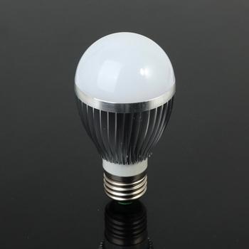 3W 4W 5W 7W 9W high power Globe Bulb E27 base 12V AC/DC LED lamp 5PCS/LOT silver color globe lamp spot light down lights