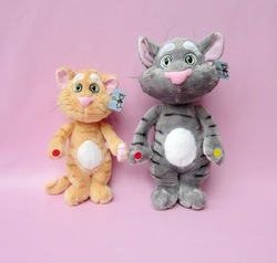 Free Shipping baby Plush and Stuffed Talking Toy Cat and Speaking Tom cat doll,The Soft Animal for kids boys and girls,size 35cm(China (Mainland))