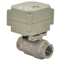 Normal Open/Normal Close 2 Way Water Electric Valve AC/DC9-24V BSP/NPT 1/2'' SS304 with indicator for water control systems