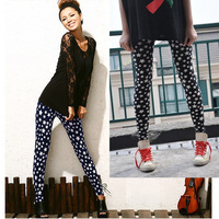 High Elastic Ladies Soft Five-pointed star Leggings,Skinny Pants, Fashion Women Slim Tights,Lady Render Pants,Bottoming pants