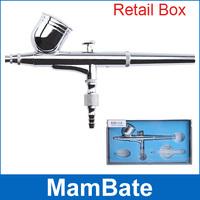 Dual action airbrush air brush kit Spray Gun for Nail Art/body tattoos spray/ cake/ toy models
