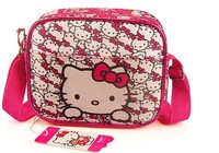 Free shipping 2013 new popular fashion  Hello Kitty children lovely messenger bags pink colour girl