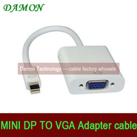 1pcs/lot mini displayport mini dp to vga cable converter male to female mini dp vga cable thunderbolt with retail package 1080p