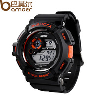 Free Fast Shipping Sport watches for Men Sports Jelly Watch Double Led Show Movement Waterproof Wristwath Fashion Man Clock