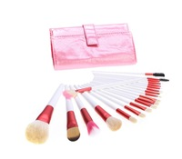 HOT Sell! 20 PCS Professional Cosmetic Brush Pink Makeup Brush Sets Tools + Pink Pouch Bag Free Shipping