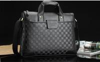 New Genuine Leather Men's Handbag Business Computer Briefcase Messenger Bag Man Bag Free Shipping 1373