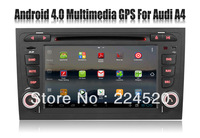 Android 4.0 system car DVD Player for Audi A4 2002-2008 with Radio GPS Navigation Stereo TV AUX USB Video Audio 3G WIFI