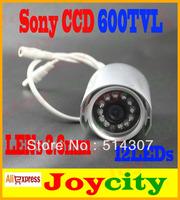 CCTV Camera 1/3 Sony CCD 600TVL Waterproof 12Leds IR Night Vision Surveillance Video Camera Out Or Indoor Free Shipping Joycity