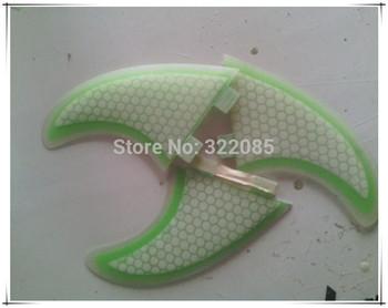 3 IN A SET  G5 Green honey comb  surfboard fin
