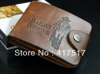 Free Shipping 2013 Fashion Men's the look monochrome Leather Bifold Wallet Multi Pocket Purse Pass case Hot Selling