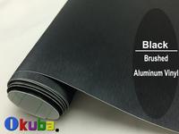 FedEx FREE SHIPPING Black Metallic Brushed Aluminum Vinyl car Wrap Film Size:1.52*30M/roll