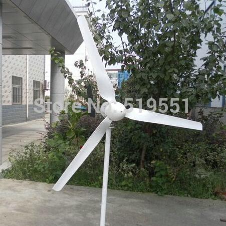 FREE SHIPPING 600W max Wind turbines 5 Leaf blade Wind power generation 12V or 24V,Built-in MPPT function(China (Mainland))